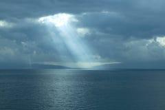 драматическое небо моря Стоковая Фотография RF