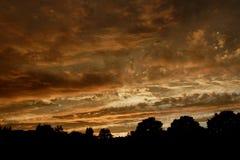 драматическое небо Стоковые Изображения