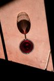драматическое стеклянное вино тени Стоковая Фотография