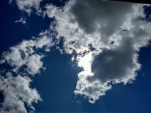 Драматическое clouds2 Стоковое Изображение RF