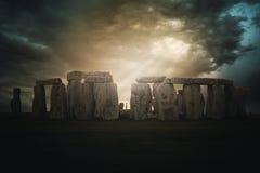 Драматическое stonehenge стоковое фото rf