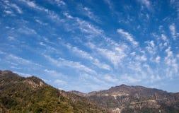 Драма облаков над Гималаями Стоковое фото RF