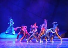 Драма танца фантома- сказание героев кондора стоковое фото