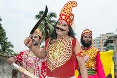 Драма Janmashtami в виске Dhakeswari Стоковое Изображение RF
