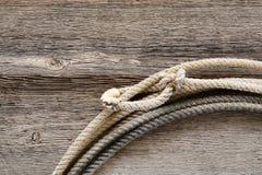 древесина американского родео lasso lariat ковбоя западная Стоковые Фотографии RF