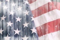 древесина американского флага стоковое изображение rf