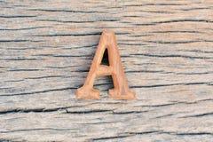 Древесина алфавита Стоковая Фотография