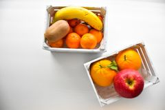 Древесина белизны 2 плодоовощей коробки Стоковая Фотография RF