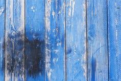 древесина вертикали текстуры панели предпосылки голубая Стоковое фото RF