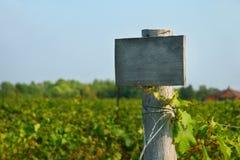 древесина виноградника знака Стоковое Изображение