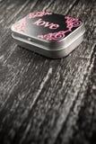 древесина влюбленности черного ящика Стоковое Изображение RF