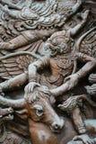 Древесина высекает в тайской культуре Стоковая Фотография RF