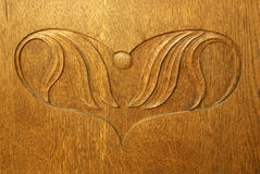 древесина гравировки Стоковое Изображение