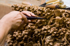 древесина гравировки Стоковая Фотография RF