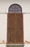 древесина двери церков старая Стоковая Фотография RF