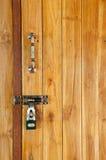 древесина двери locked Стоковое Изображение