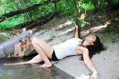 древесина девушки Стоковое Изображение RF