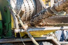 древесина действия chipper промышленная Стоковое Фото