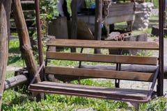 Деревянная скамья стоковая фотография rf