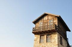 древесина дома каменная традиционная Стоковое Изображение