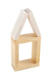 древесина дома кирпича Стоковое фото RF