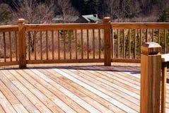 древесина дома расстояния палубы Стоковые Изображения