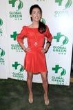 Древесина Жаклина MacInnes на глобальное партии Pre-Оскара США 6-ого зеленого цвета однолетней. Avalon Голливуд, Голливуд, CA. 02- Стоковые Изображения RF
