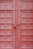 древесина замка двери старая Стоковая Фотография