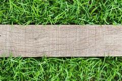 Древесина зерна на траве Стоковое Изображение RF