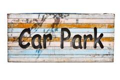 древесина знака стоянкы автомобилей Стоковое Изображение