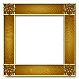 древесина золота рамки Стоковое Изображение