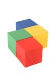 древесина игрушки кубиков Стоковое Фото
