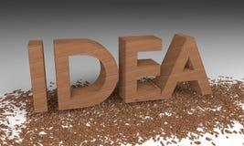 древесина идеи 3D откалывая текст бесплатная иллюстрация