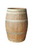 древесина изолированная бочонком старая стоковое изображение