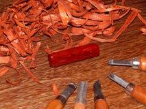 Древесина ключевого кольца mahogany твердая стоковые фотографии rf