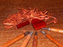 Древесина ключевого кольца mahogany твердая стоковое фото rf