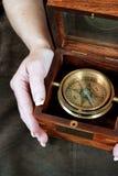 древесина компаса коробки стоковые фотографии rf