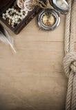 древесина корабля веревочек компаса Стоковое Изображение RF