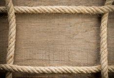 древесина корабля веревочки Стоковые Изображения