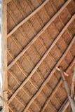 древесина крыши palapa Мексики детали кабины тропическая Стоковое Изображение RF