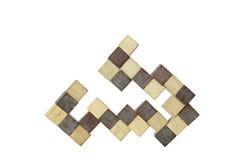 Древесина кубическая Стоковое Фото