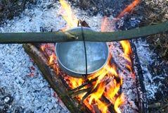древесина лагерного костера Стоковые Фото