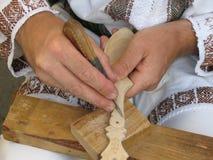 древесина ложки художника handmade Стоковые Изображения RF