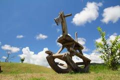 древесина лошади холма тряся Стоковые Фотографии RF