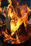 Древесина на пожаре Стоковые Фото