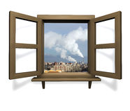 древесина окна стоковое фото rf