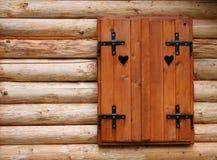 древесина окна Стоковая Фотография