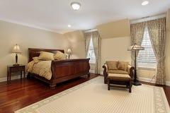 древесина оригинала настила вишни спальни Стоковые Изображения