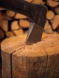 древесина оси близкая поднимающая вверх Стоковые Фото