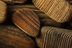 древесина отполированная peaces Стоковое Изображение